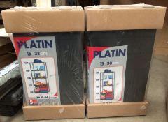 Two Platin plastic five shelf storage units