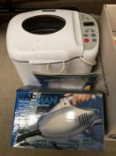 Russell Hobbs Rapide bread maker and a Vacman hand held vacuum