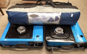 Pro-Action Monodome Super 1-2 man tent and two assorted gas stoves