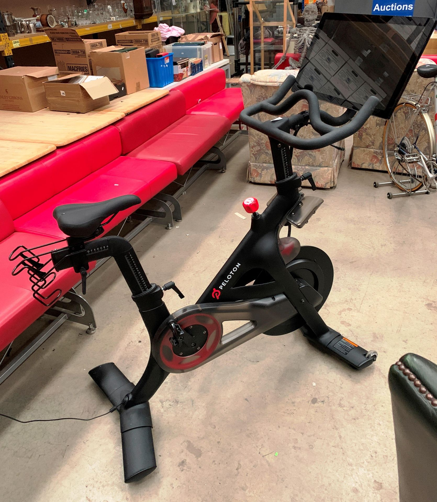 A PELOTON TRAINING BIKE with Peloton console model PLTN-RB1VQ complete with power lead and lock - - Image 5 of 12