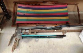 Assorted gardening tools,
