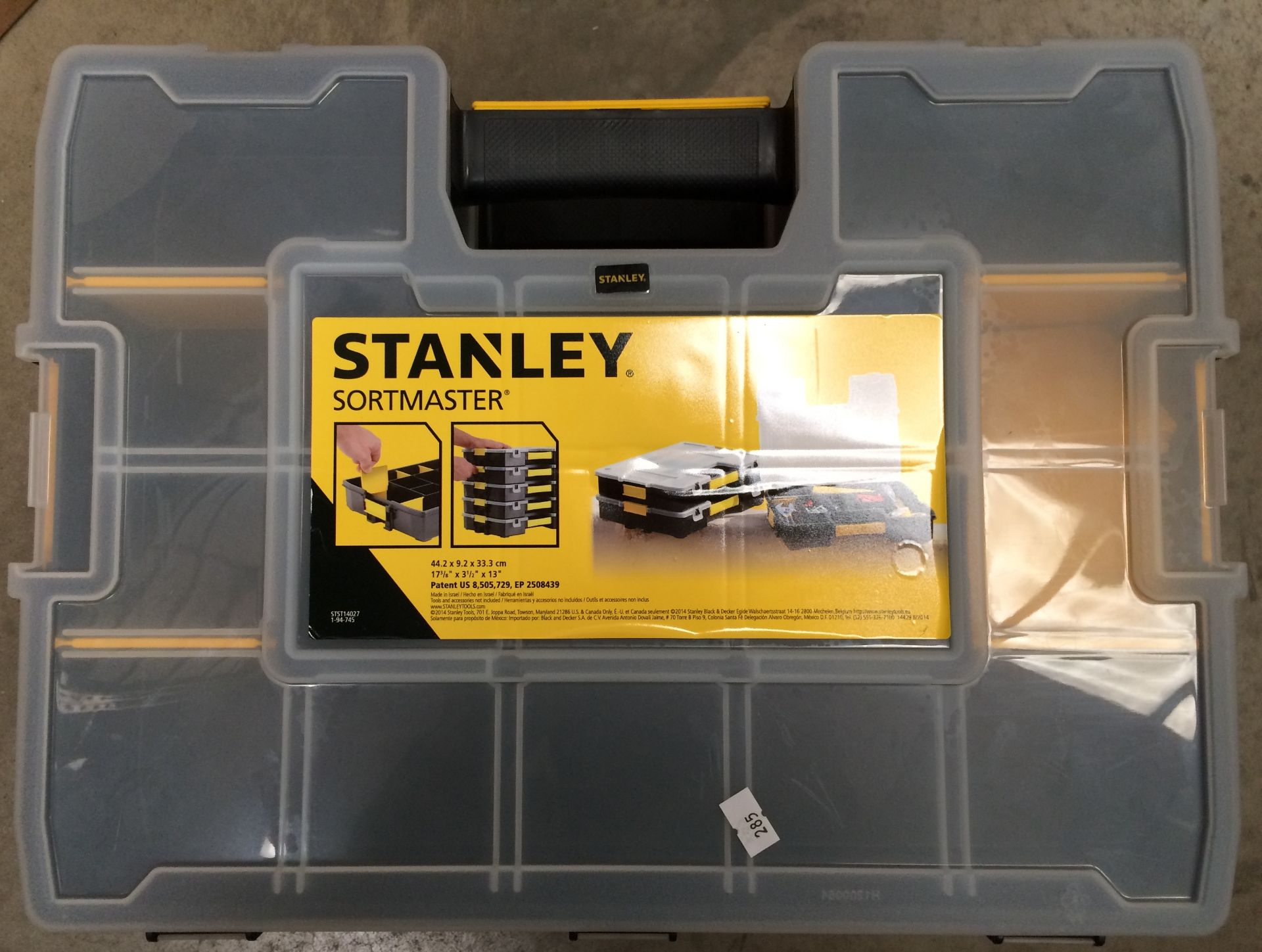 Three level Stanley Sortmaster 44.2 x 9.2 x 33. - Image 2 of 2