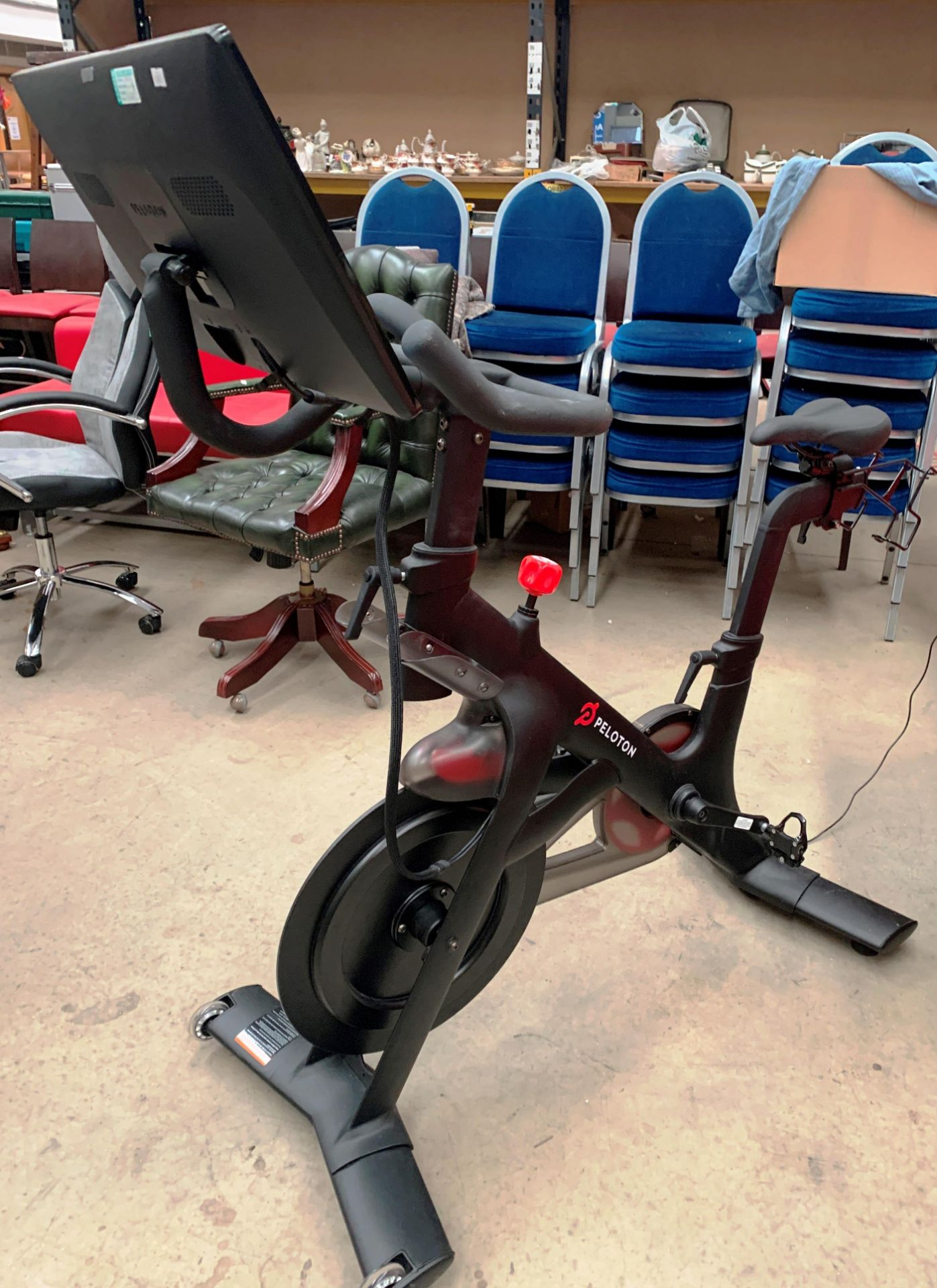 A PELOTON TRAINING BIKE with Peloton console model PLTN-RB1VQ complete with power lead and lock - - Image 2 of 12