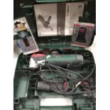 Bosch PMF 250 CES multi-function tool in case 240v complete with two new blades and three used
