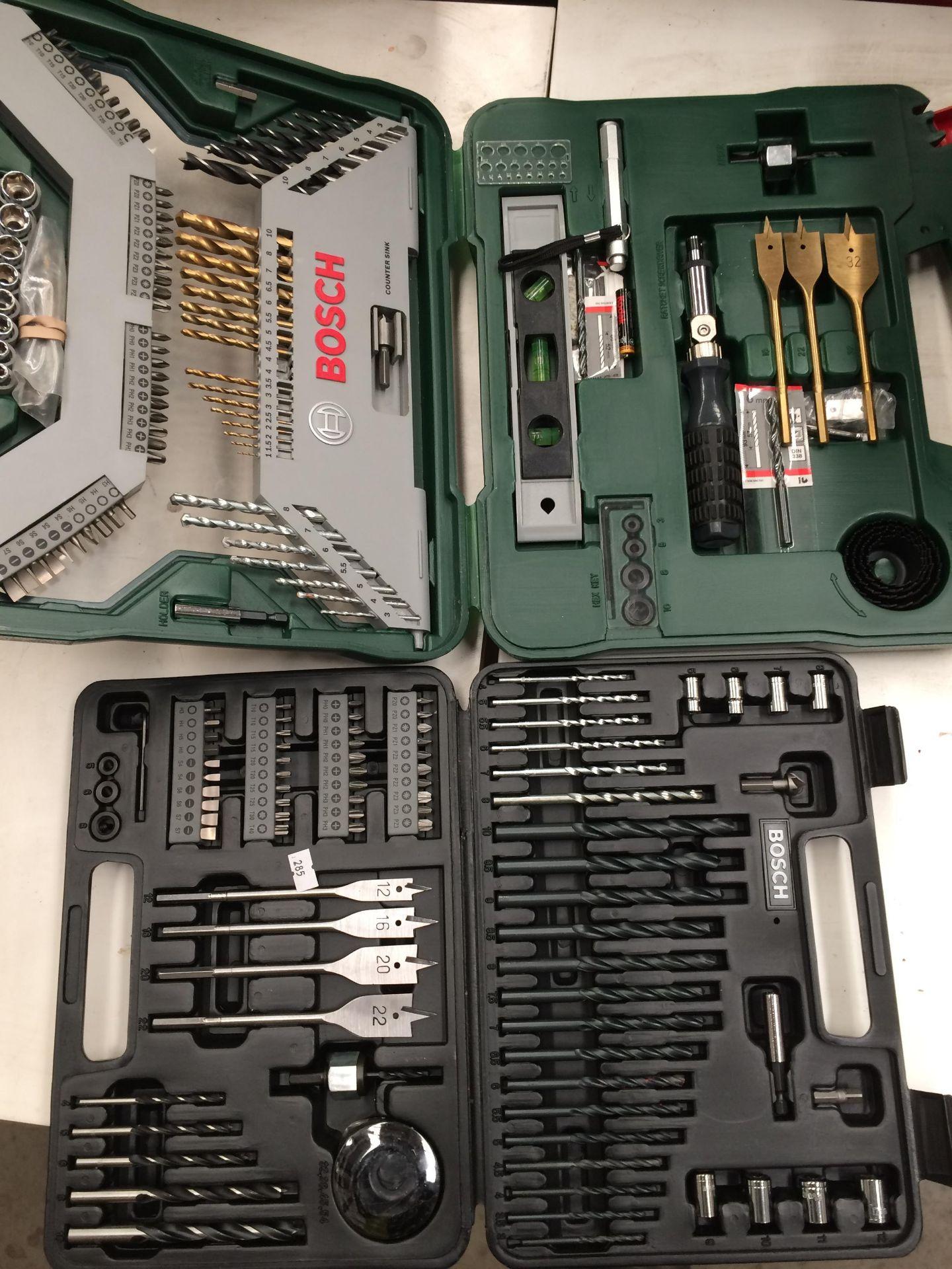 Bosch X100Ti 100 piece drill set and a Bosch attachment set - Image 2 of 2