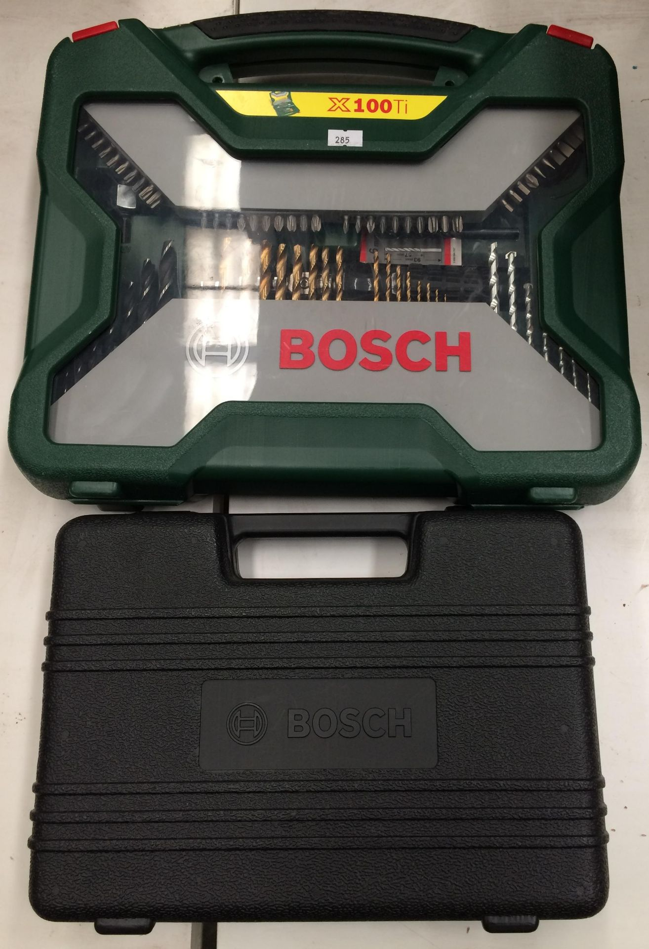 Bosch X100Ti 100 piece drill set and a Bosch attachment set