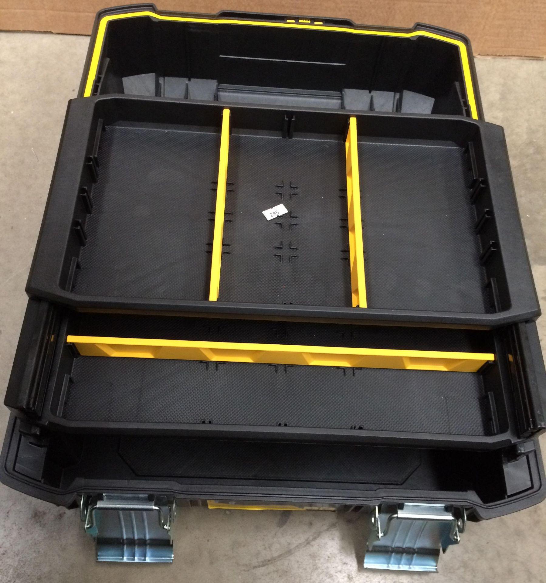 Stanley Fatmax 26cm three level tool box - Image 3 of 3