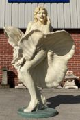 A lifesize fibreglass model of Marilyn Monroe approx.