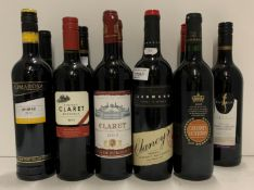 Eleven 75cl bottles of various red wines - Clancy's Shiraz/Cabernet Sauvignon and Merlot,