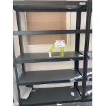 5 shelf Whalen Storage metal rack 122 x 46 x 183.