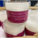 50 x 100ml pots of Cougar Dragons Fruit & Hyaluronic Acid Face Mask