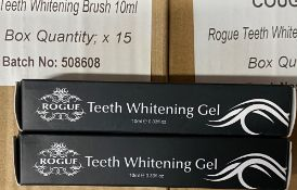 250 x 10ml tubes of Rogue Teeth Whitening Gel (Counts are approximate)