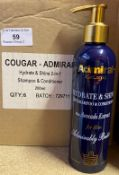 102 x 200ml bottles of Cougar Admiral Hydrate & Shine 2-in-1 Shampoo and Conditioner with Avocado