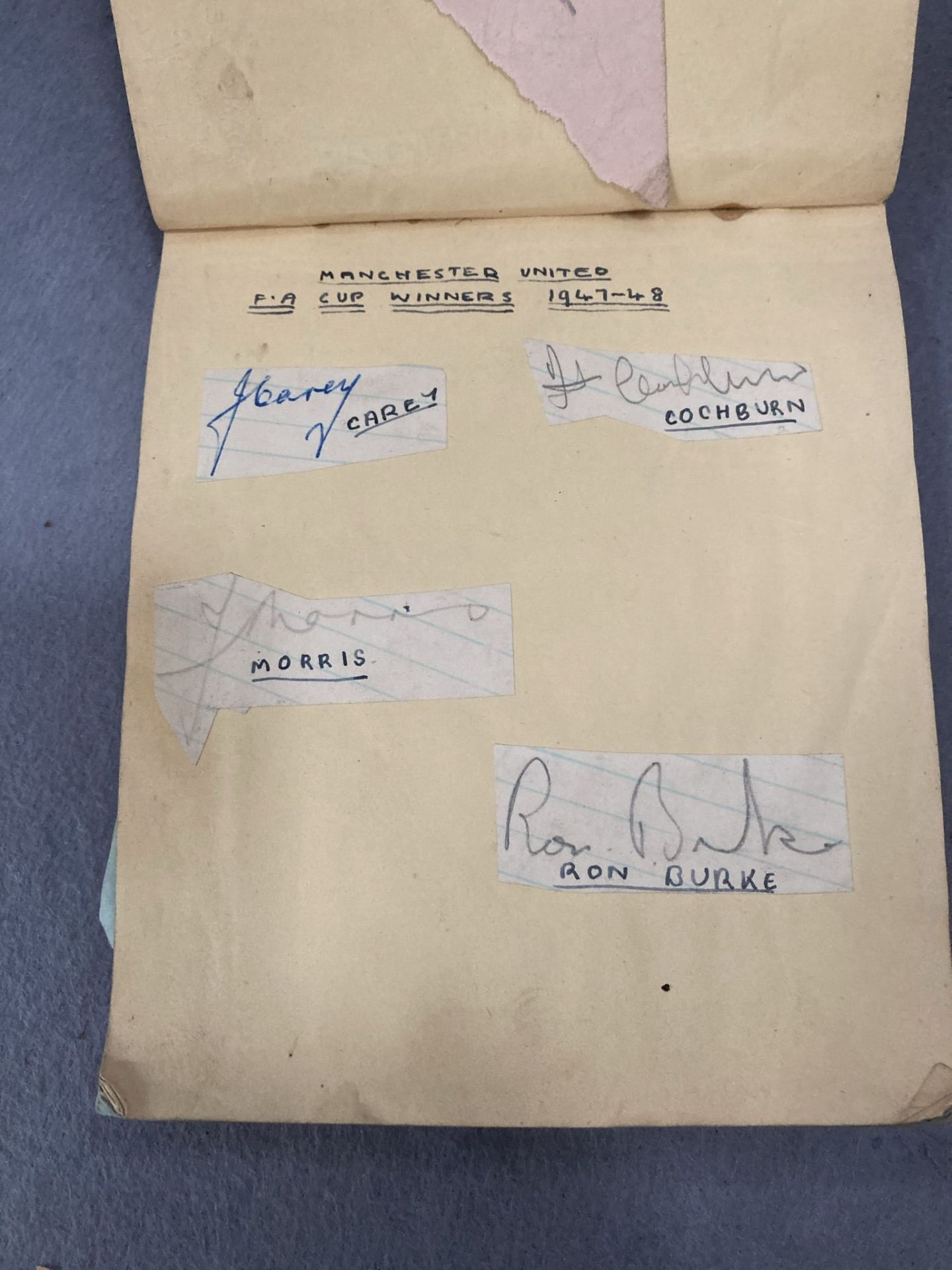 An autograph book, badly distressed, - Image 2 of 5