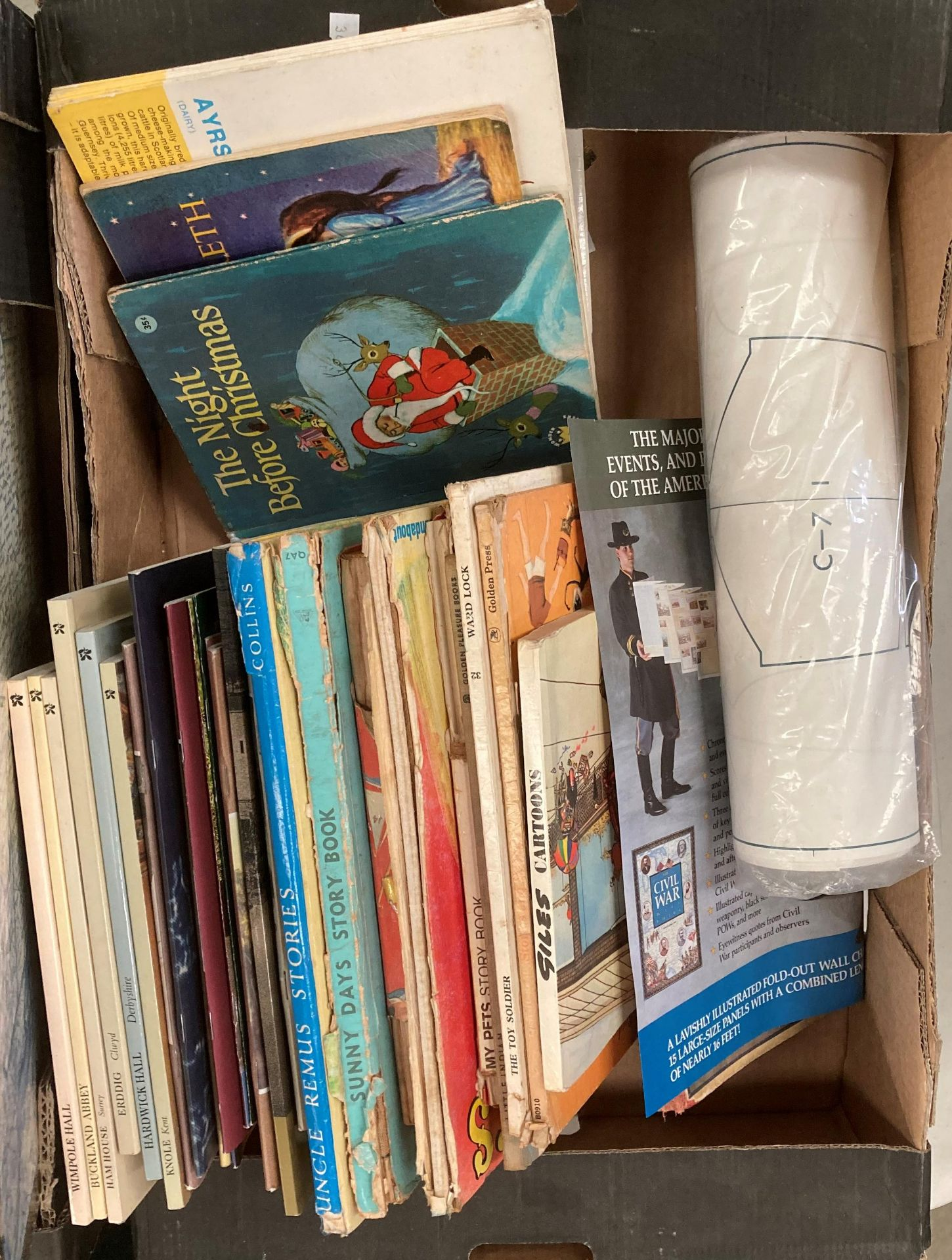 Contents to two boxes - a small quantity of childrens books, Giles Cartoon book, - Image 3 of 3