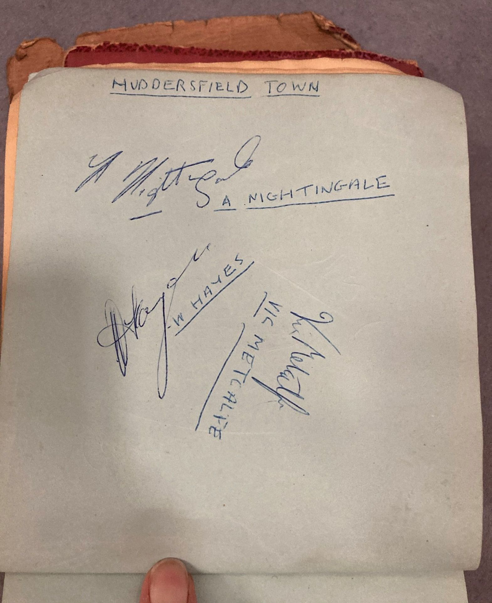 An autograph book, badly distressed, - Image 4 of 5