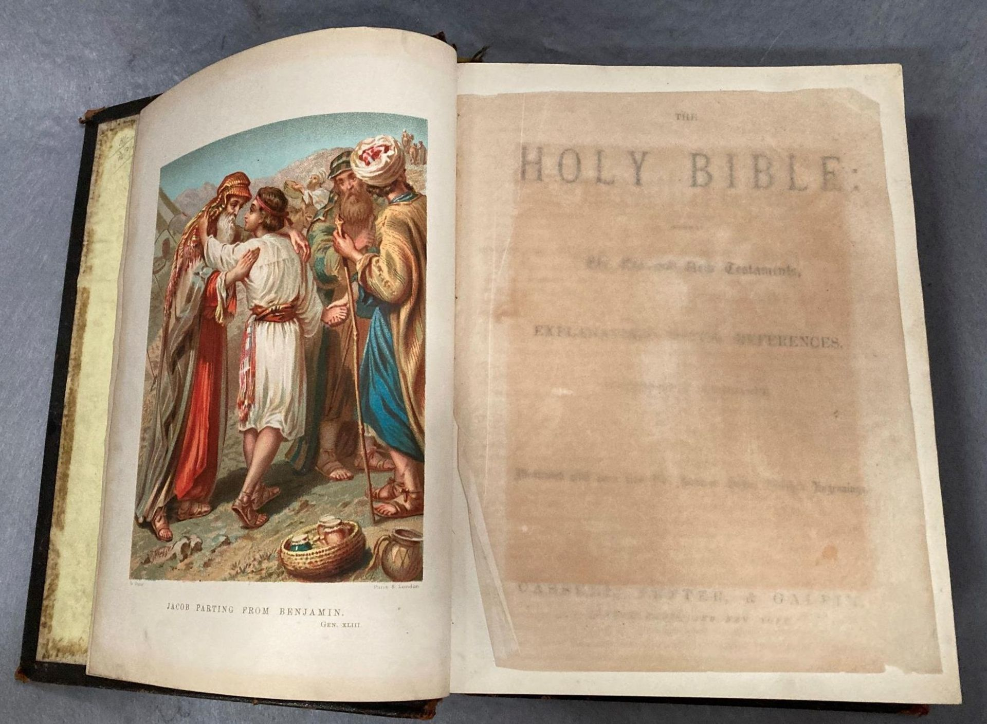 The Holy Bible illustrated with more than 900 engravings published by Cassell, - Image 2 of 4