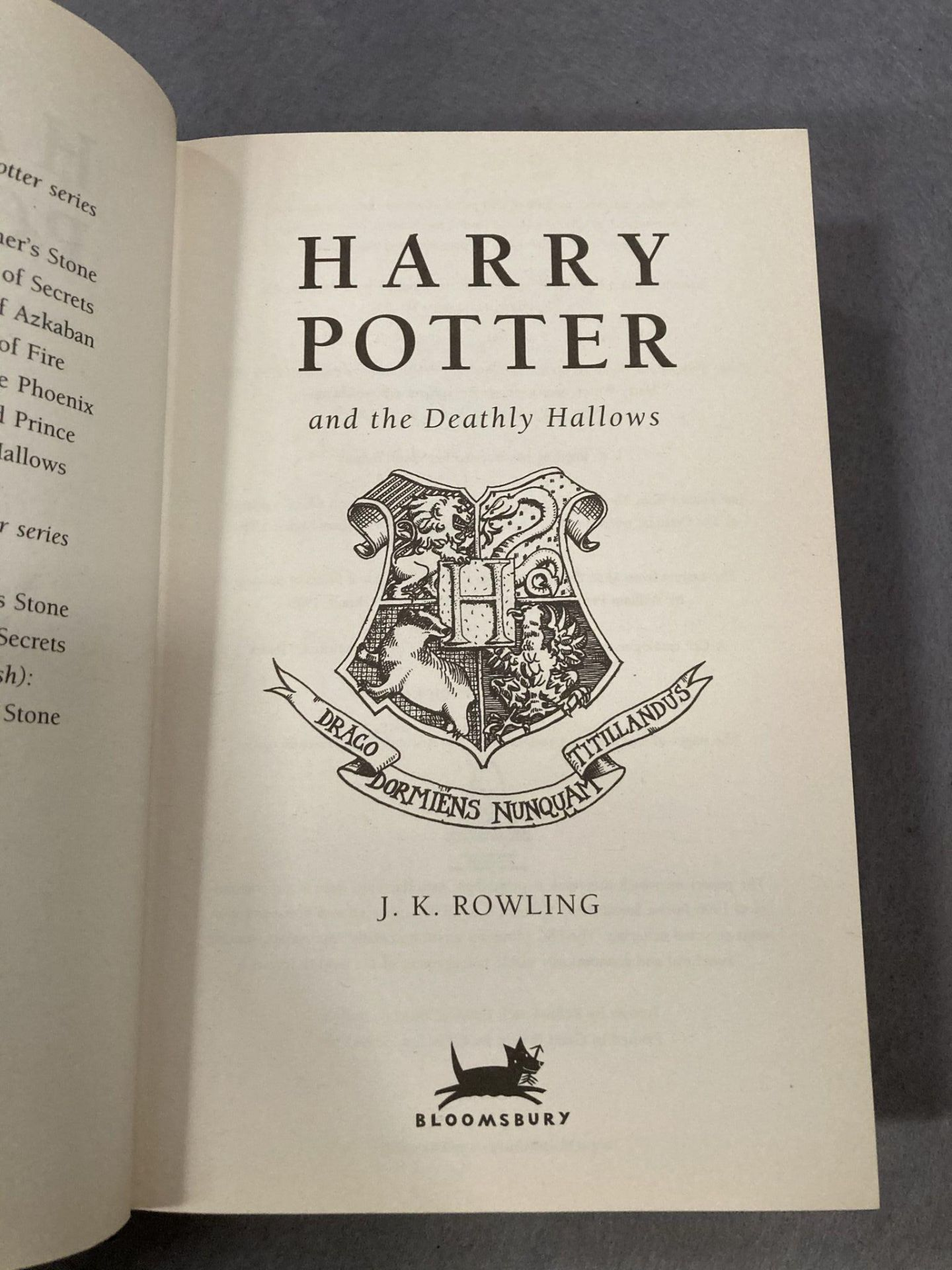 J K Rowling three Harry Potter First Editions published by Bloomsbury all complete with dust - Image 6 of 7