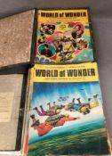 A box and lever arch file full of Early 1970s World of Wonder magazines