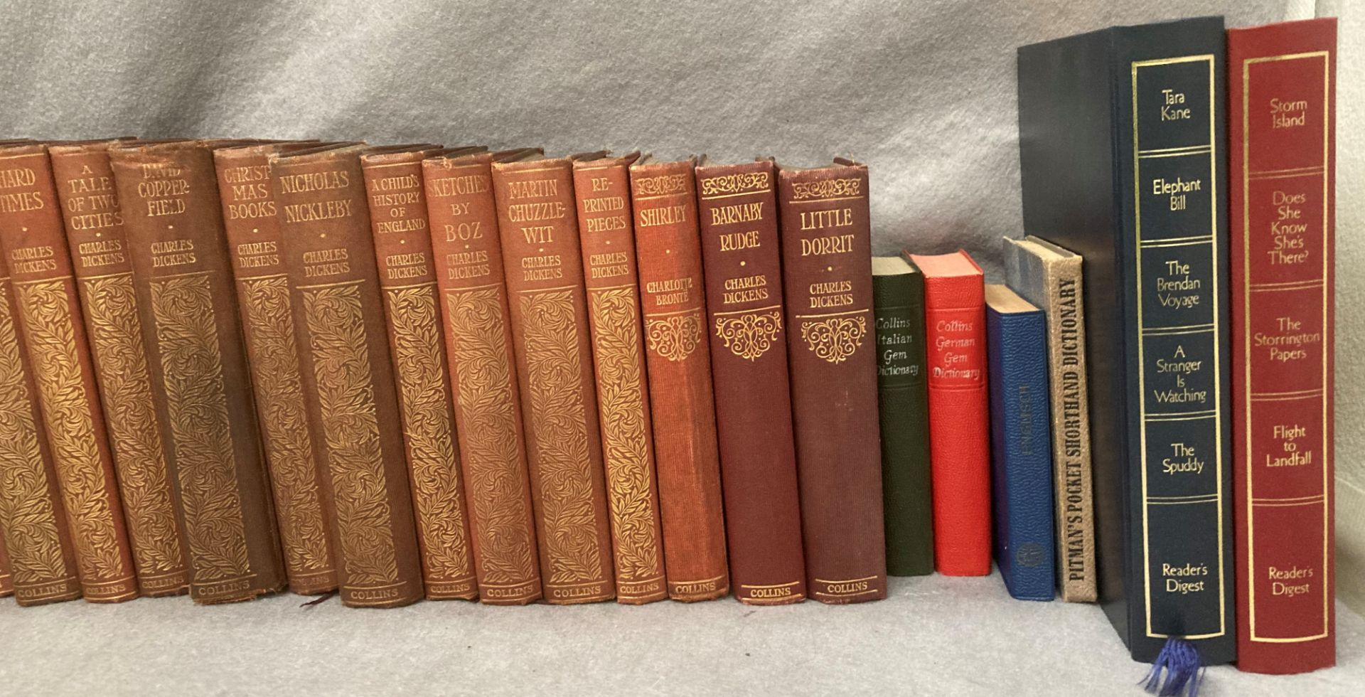 Contents to crate a quantity of Collins pocket book hard backs - Charles Dickens and The Brontes, - Image 3 of 3