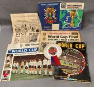 World Cup 1966 Final programme with great condition rosette bought and worn on the day together