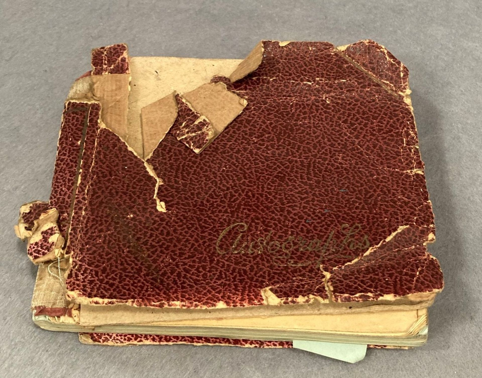 An autograph book, badly distressed, - Image 5 of 5