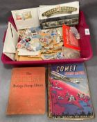 Contents to tray two small stamp albums - Comet and The Jubilee a large quantity of loose used
