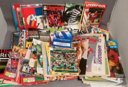Collection of well over 100 European football programmes including numerous British Clubs v Foreign