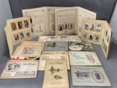 Contents to tray a quantity of cigarette card albums - cards stuck in albums including Players 'The