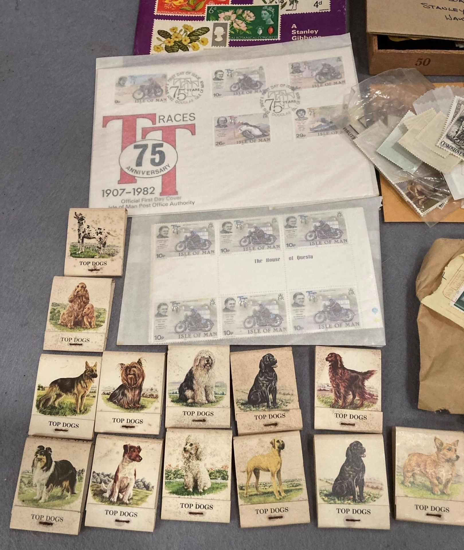 Contents to tray - two stamp collecting magazines, - Image 3 of 3