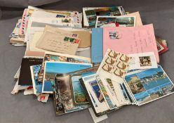 Contents to tray a quantity of mainly topographical/holiday postcards and a large quantity of