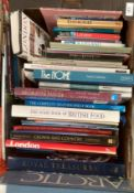 Contents to tray - a quantity of books on London, Scotland, The Home, D.I.