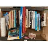 Contents to two boxes - a small quantity of childrens books, Giles Cartoon book,