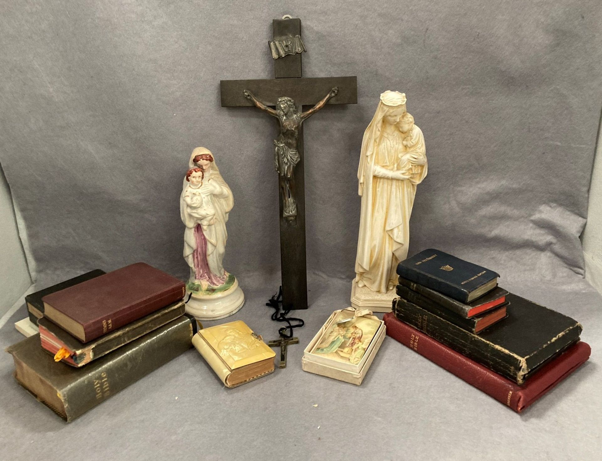 Contents to tray a quantity of Holy Bibles,