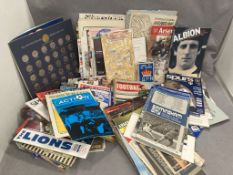 Very large collection of Sporting programmes and ephemera,