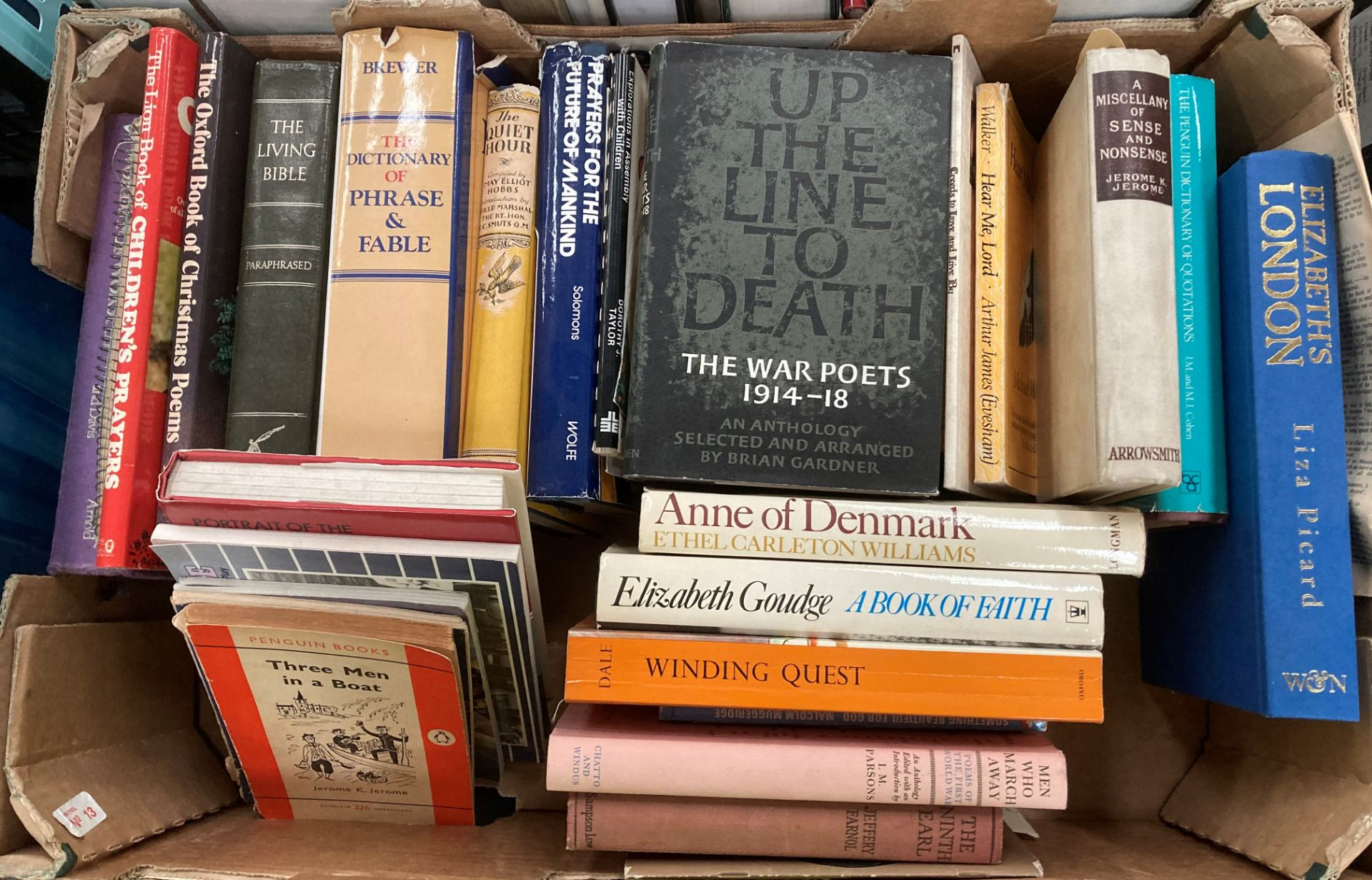 Contents to four boxes books on English Literature, poetry, biographies, religion etc. - Image 4 of 5