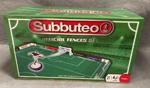 A boxed Subbuteo official fences set