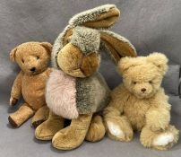 A Richard Land and Sons Derby large soft toy rabbit 44cm high,
