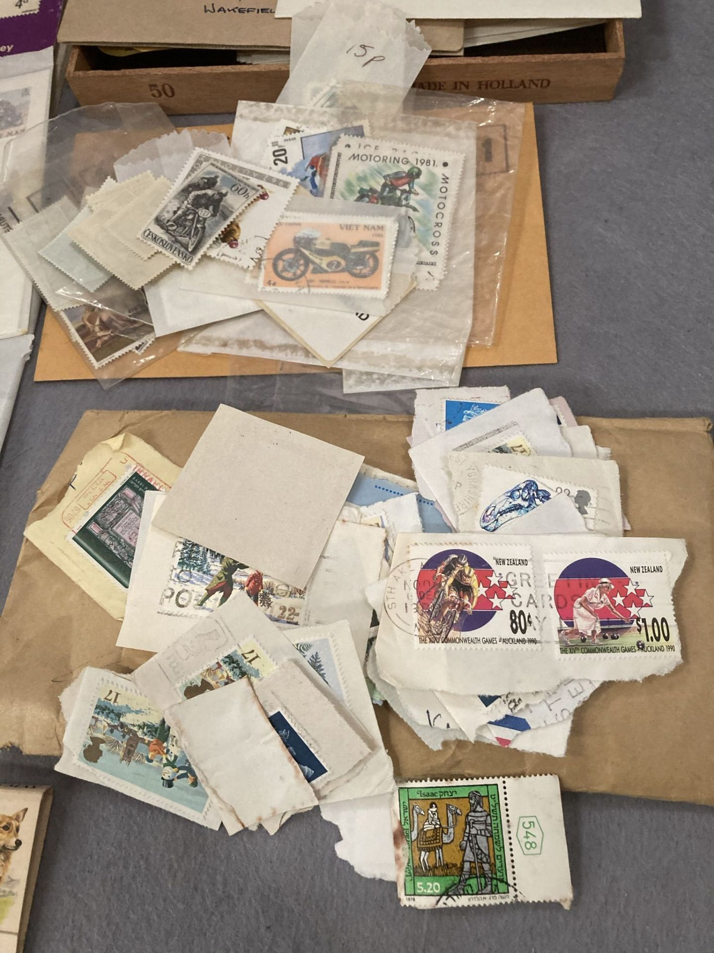 Contents to tray - two stamp collecting magazines, - Image 2 of 3