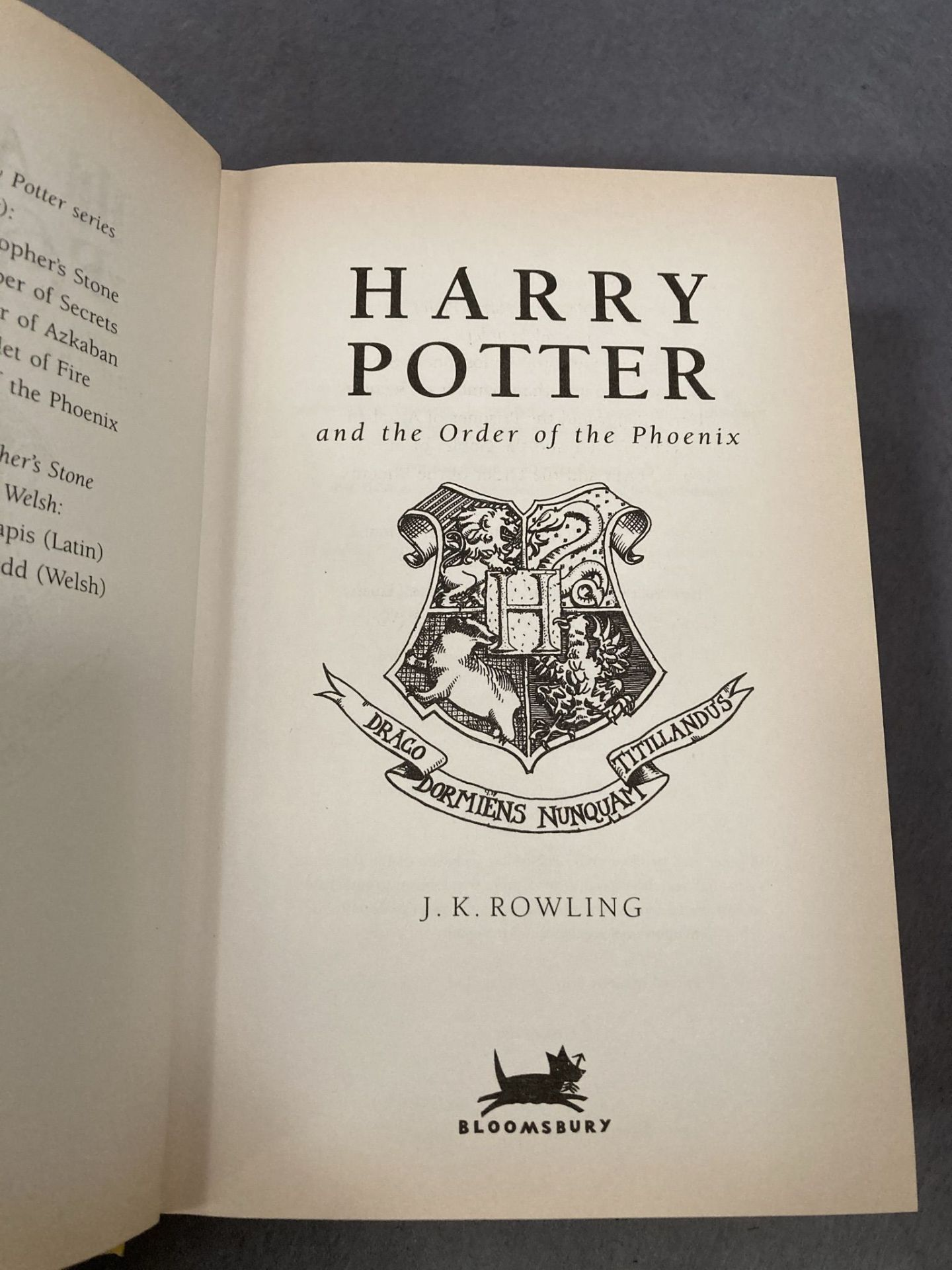 J K Rowling three Harry Potter First Editions published by Bloomsbury all complete with dust - Image 2 of 7