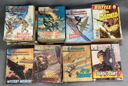 Approximately 160+ large collection of vintage war comics,
