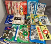 Large collection of West Yorkshire football programmes (approx 30 Leeds),