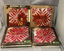 Seven packs of Masterpiece retro Decor Mirror tiles from the 1970's each pack has six tiles each