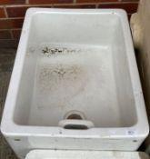 White glazed Belfast sink 60cm x 45cm x 20cm deep