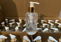96 x 200ml pump top bottles of Rosdon Group UK hand sanitiser (Unlabelled clear plastic bottles) -
