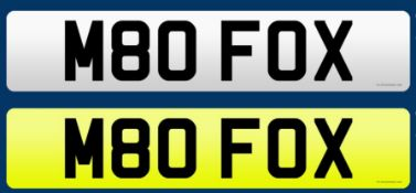 CHERISHED REGISTRATION NUMBER: M80 FOX.