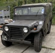 A FORD M151 (WILLYS) 1/4 TON 2.2 LIGHT 4X4 UTILITY JEEP - Petrol - Green - Ex USA Air Force.
