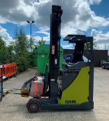 A CLARK CRT16K 1600KG ELECTRIC REACH TRUCK - green complete with charger S/N 032770 Lift height