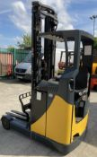 PIMESO 1600KG ELECTRIC REACH TRUCK - black/yellow complete with charger S/N ADVK0906477 Lift height