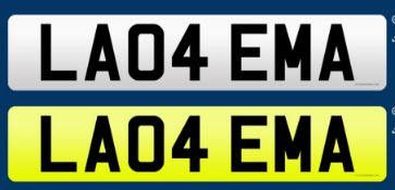 CHERISHED REGISTRATION NUMBER: LA04 EMA. ON INSTRUCTIONS OF THE INSOLVENCY SERVICE.